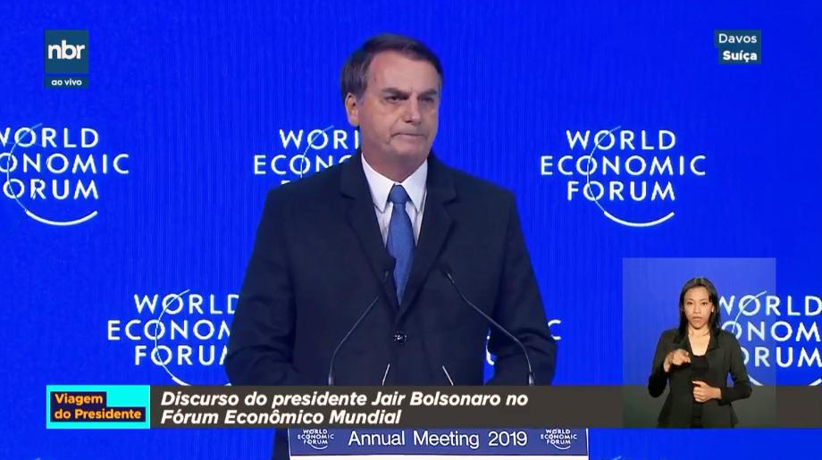 Resultado de imagem para Fórum de Davos: Em discurso, Bolsonaro