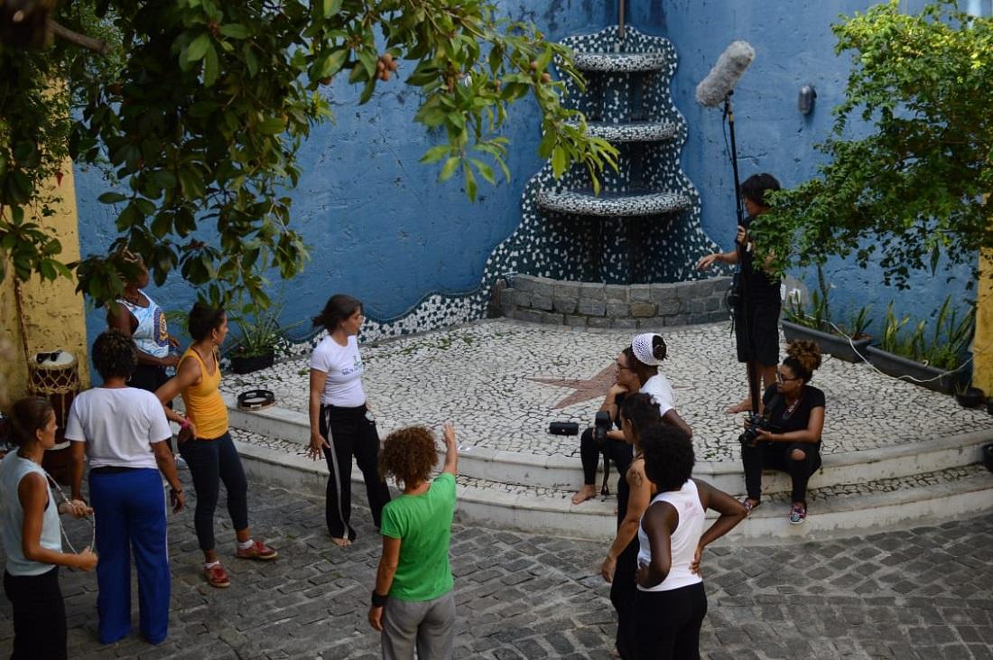 Bastidores da gravação do documentário Mulheres da Pá Virada