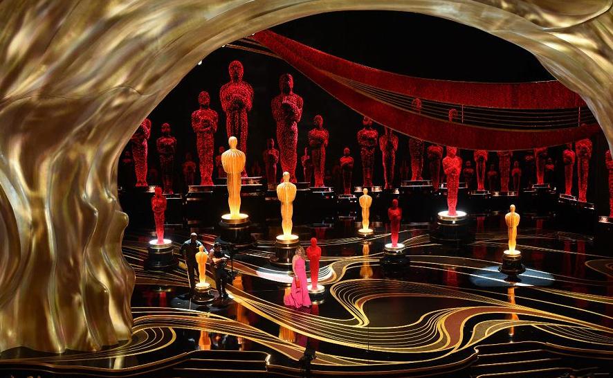 A atriz americana Julia Roberts anuncia o Oscar de melhor filme do ano para Green book, durante o 91º Annual Academy Awards no teatro Dolby em Hollywood, Califórnia.