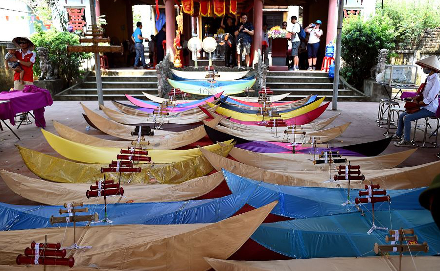 Festival de pipas na aldeia Ba Duong Noi em Hanói.