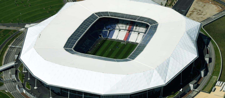 Stade de Lyon: maior estádio da Copa com capacidade para 59.186 torcedores. Será o palco da final no dia 7 de julho