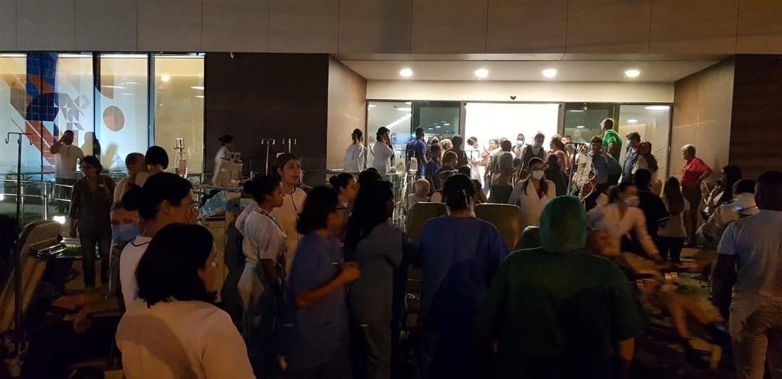 Fachada do Hospital Badim, no Maracanã, após incêndio na unidade