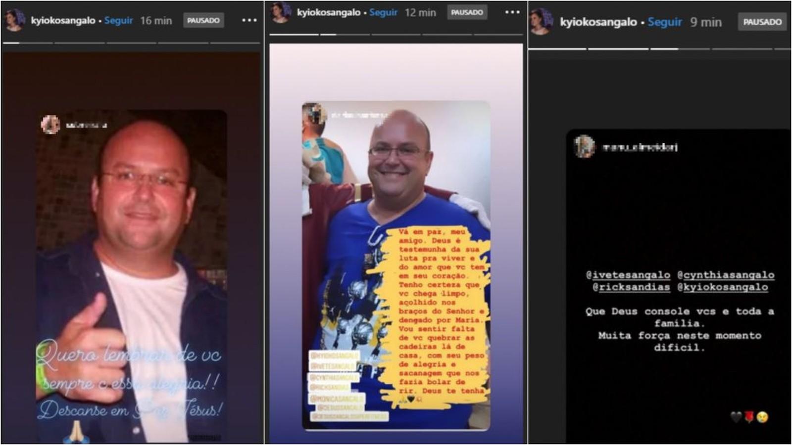 Cunhada de Ivete, esposa de Jesus Sangalo compartilha mensagens de luto nas redes sociais