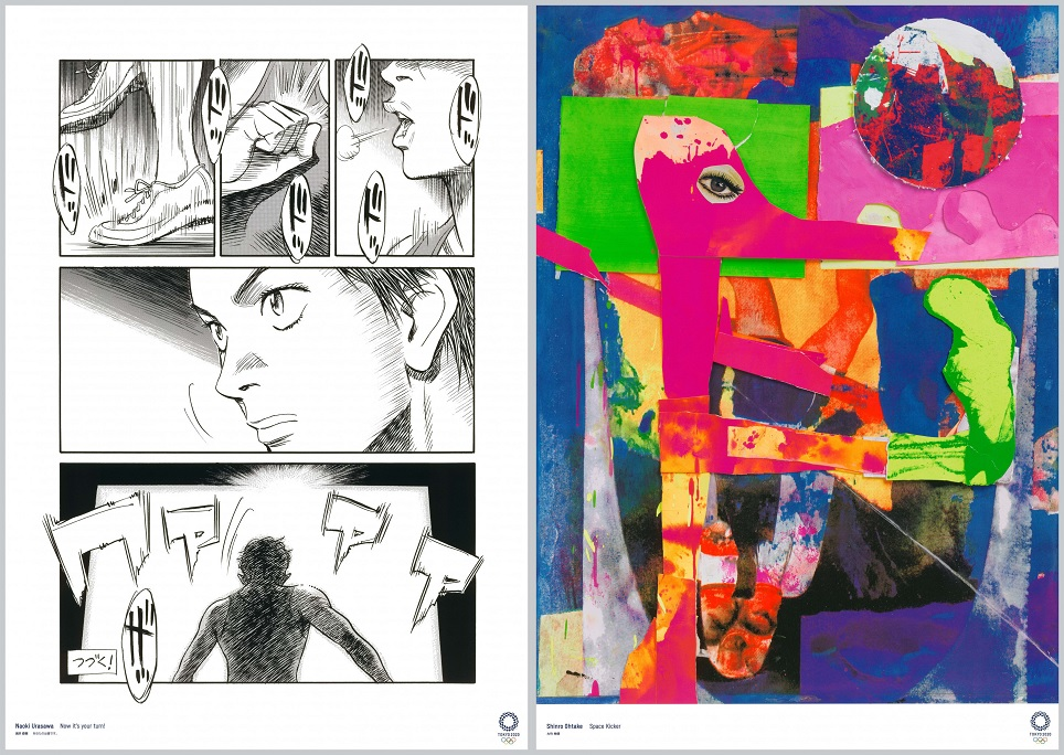 Artes de Naoki Urasawa e Shinro Ohtake para os Jogos Olímpicos de Tóquio-2020