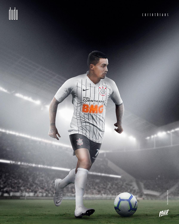 Dudu com a camisa do Corinthians