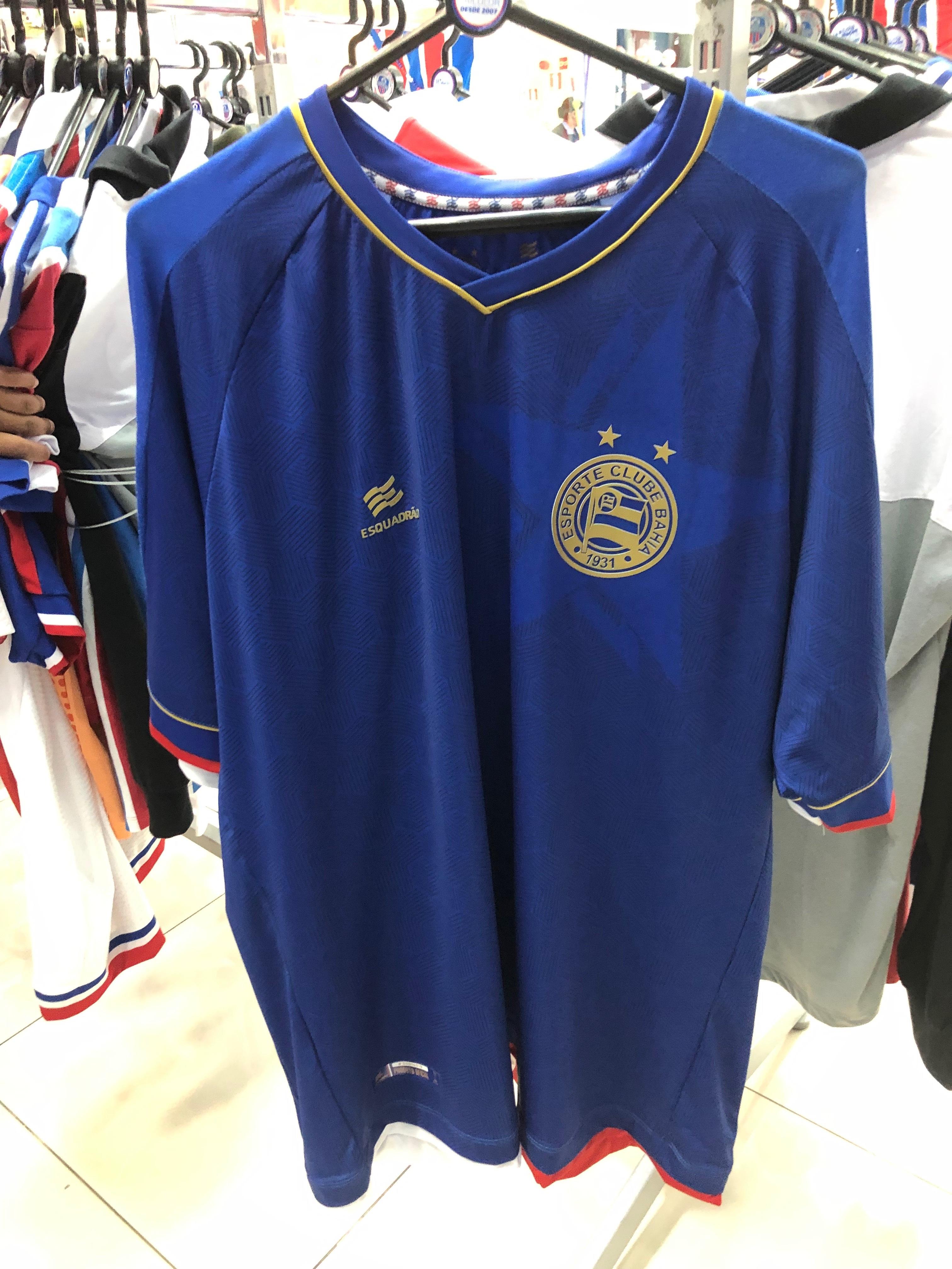Camisa oficial do Bahia jogo 3 (Casa do Tricolor - Shopping Bela Vista) de 239,9 por R$ 189,9 (20%)