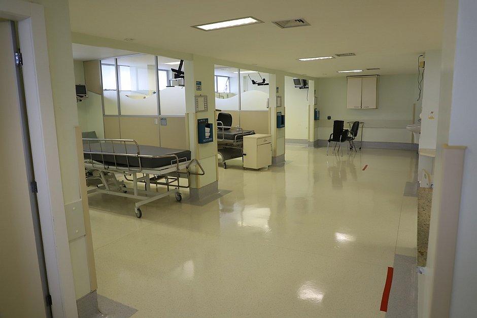 Unidade está sendo preparada para atender pacientes com o covid-19