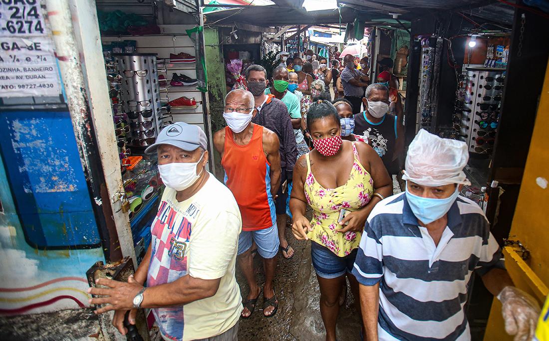 Em São Caetano, filas e aglomerações.