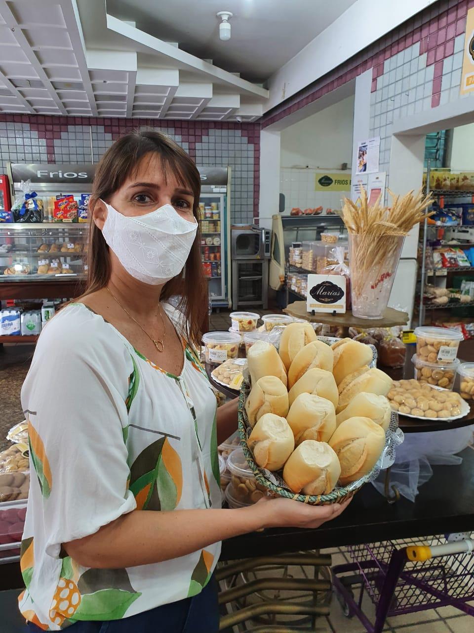 Diretora da Associação de Proprietários de Padaria da Bahia Maria da Conceição notou aumento do preço da farinha de trigo