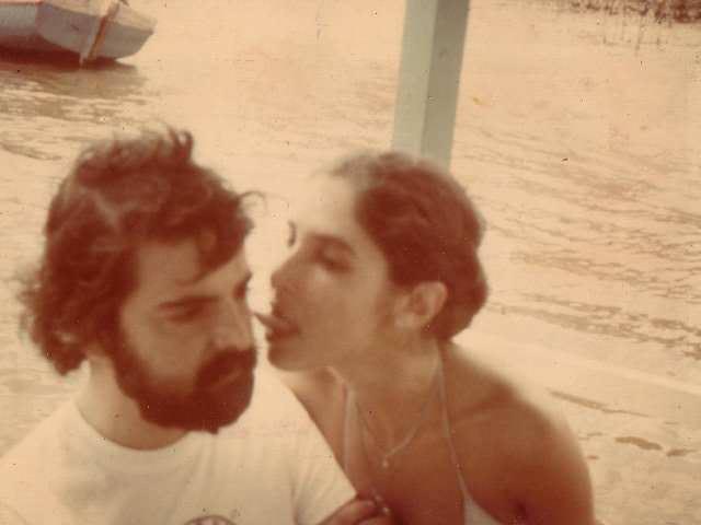 Exercício de linguagem: Setaro e Ediane do Monte (sua segunda esposa), em férias no Ceará, em 1978