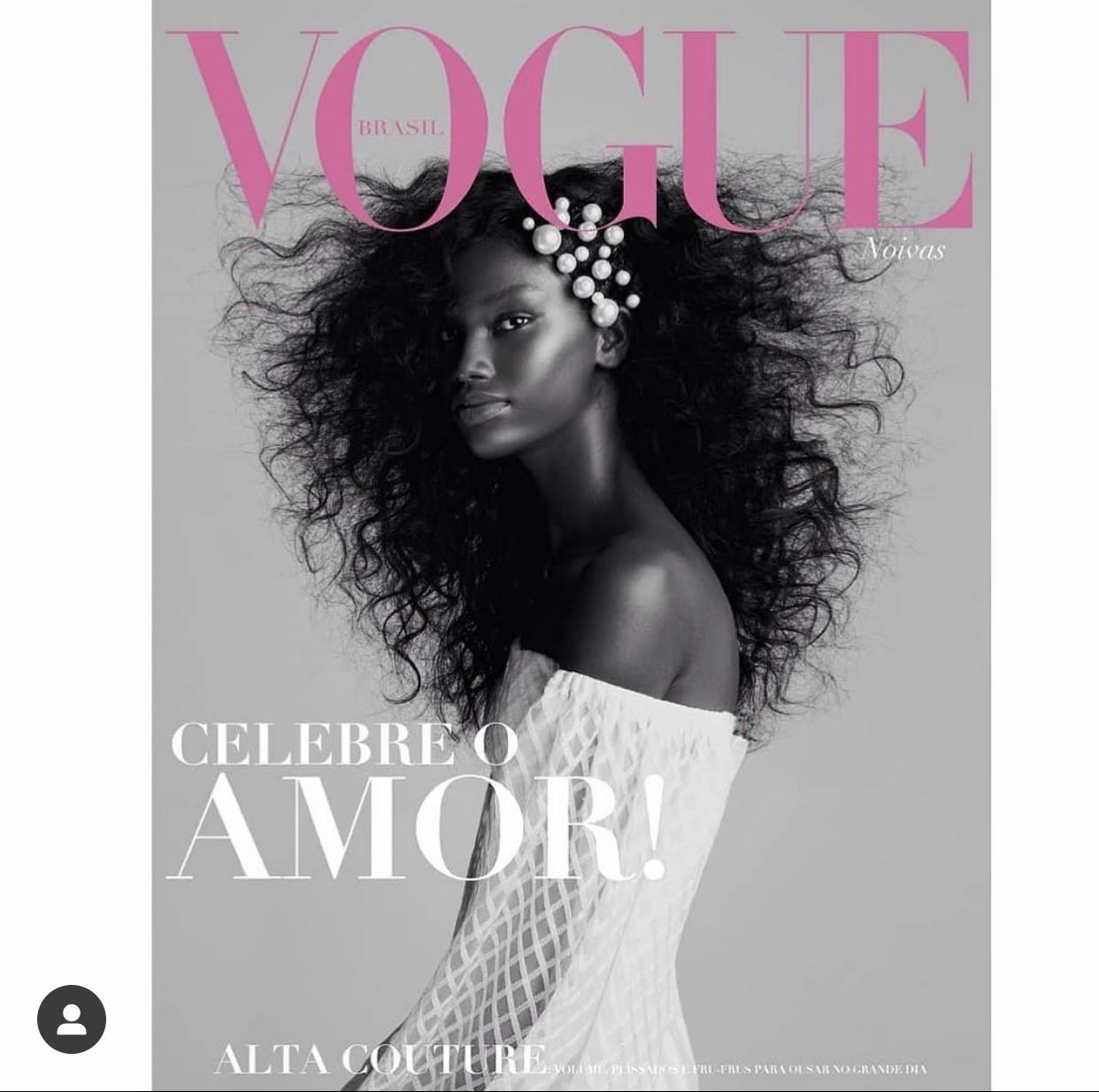 Zana Santos, 20 anos. Ex-marisqueira, não pensava em ser modelo. Lançada no AFD 2018, foi capa da revista Vogue internacional (foto), desfilou no São Paulo Fashion Week e vai morar nos EUA em 2021.