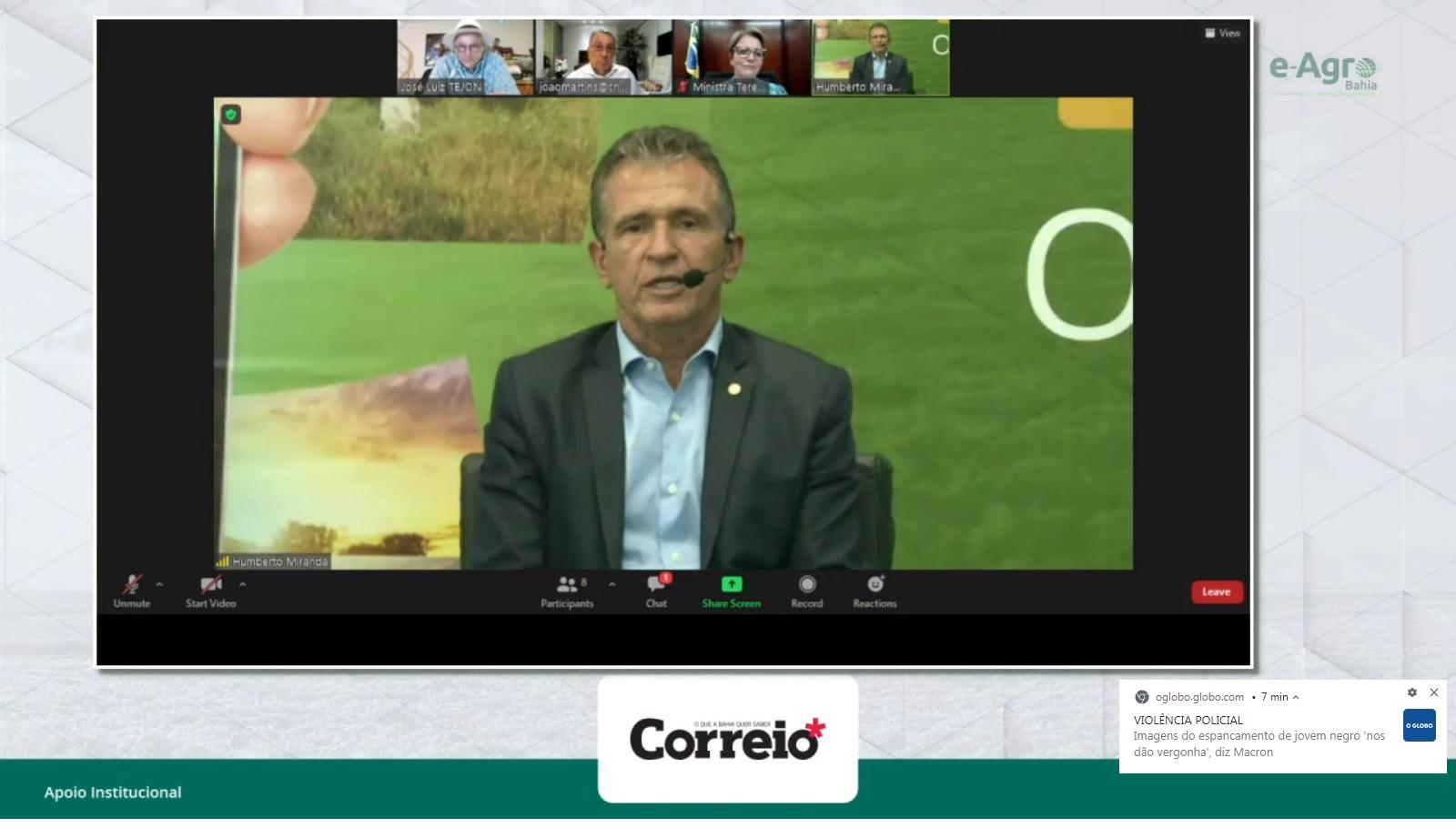 O presidente da FAEB, Humberto Miranda, pretende repetir o evento em 2021