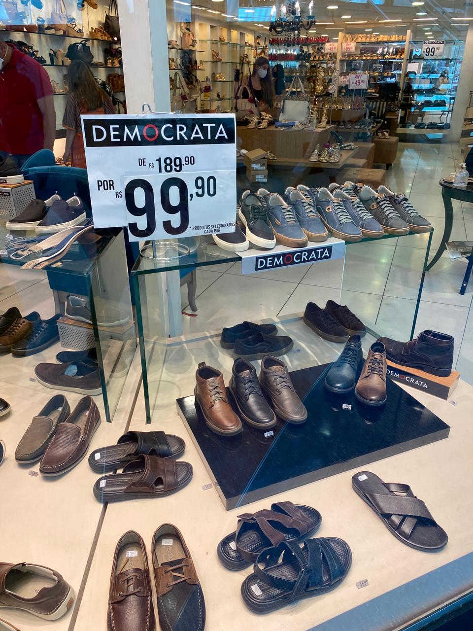Salvador Shopping: Democrata - calçados, de R$ 189,90 por R$ 99,90 (47,3% de desconto)