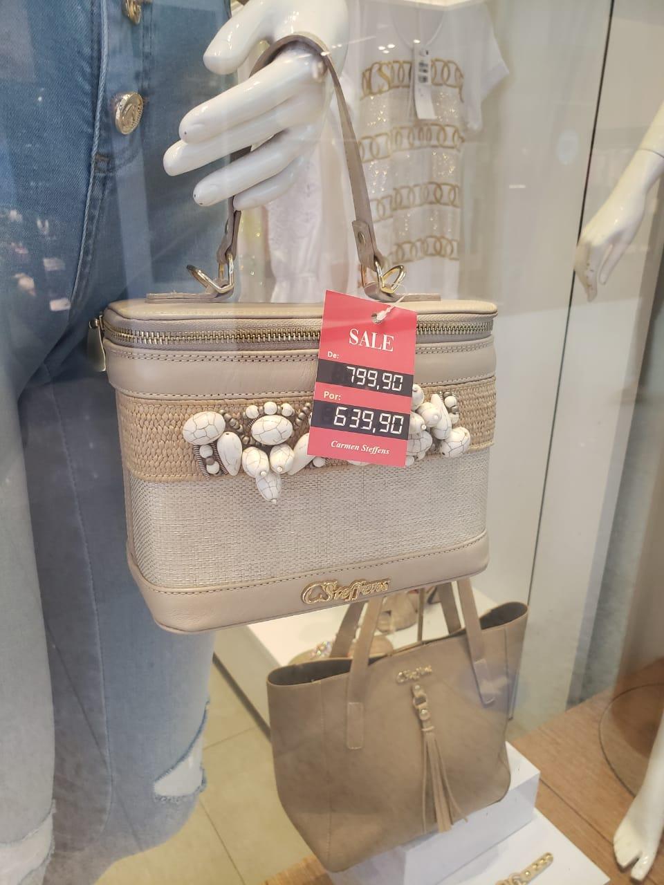 Shopping da Bahia: Carmen Steffens - bolsa, de R$ 799,90 por R$ 639,90 (20% de desconto)