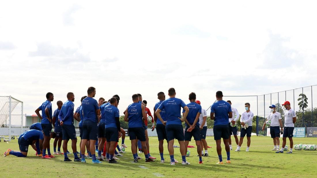 Elenco do Bahia fez último treino antes de encarar o Corinthians, pelo Brasileirão