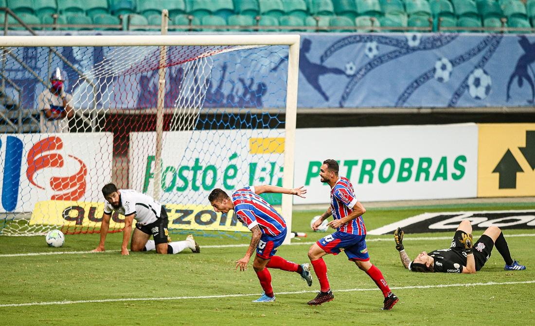 Ramírez deixou dois marcadores no chão antes de marcar um golaço na Fonte Nova