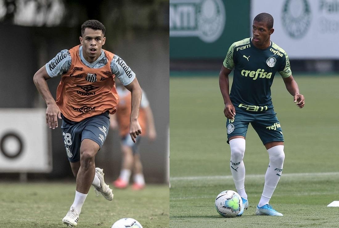 Sandry e Danilo, volantes de Santos e Palmeiras respectivamente
