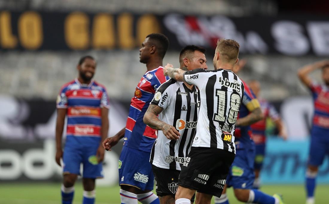 Vargas fez o segundo gol do Galo na partida