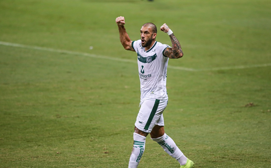 Fernandão vibra gol marcado contra o Bahia, na Fonte Nova