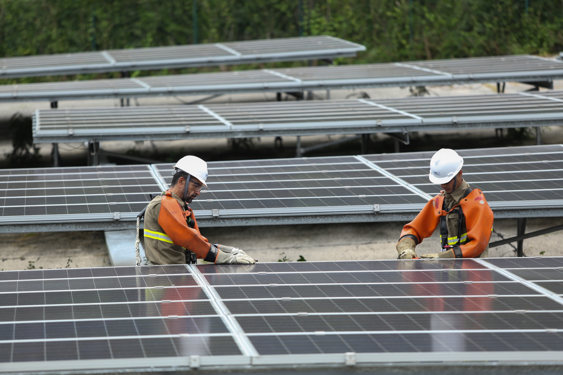 Usina solar na Ilha de Fernando de Noronha, em Pernambuco