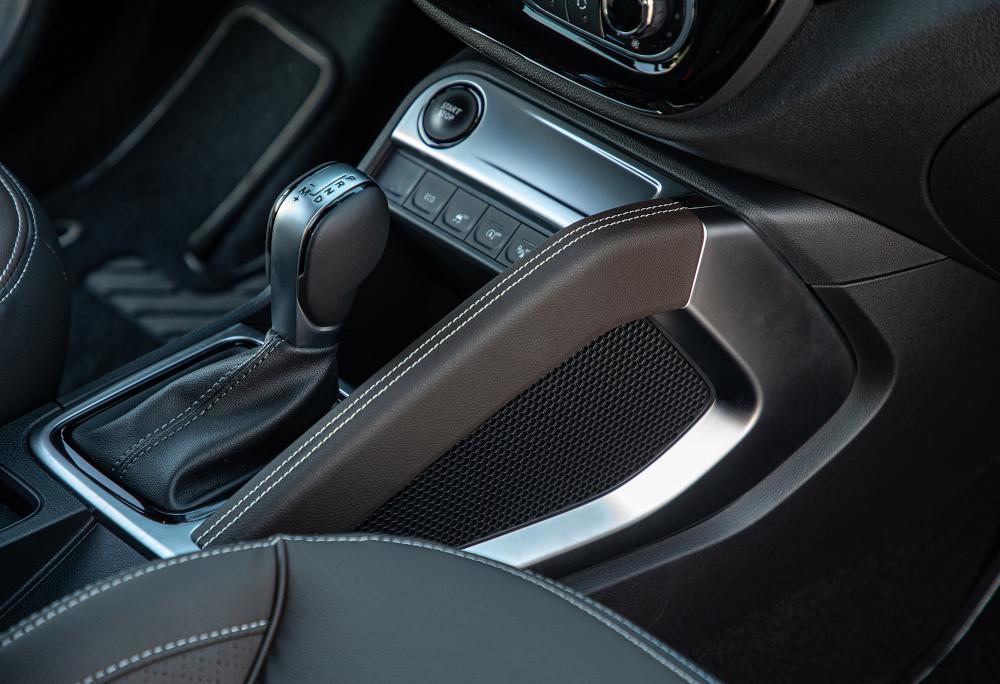 A transmissão é sempre automática do tipo CVT e tem oito velocidades